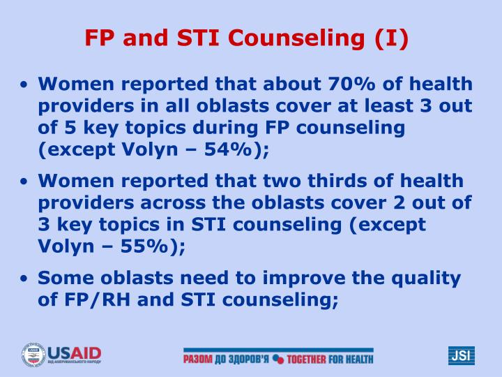 FP and STI Counseling (I)