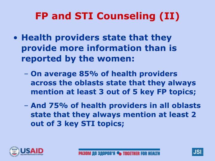 FP and STI Counseling (II)