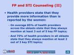 fp and sti counseling ii