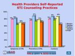 health providers self reported sti counseling practices