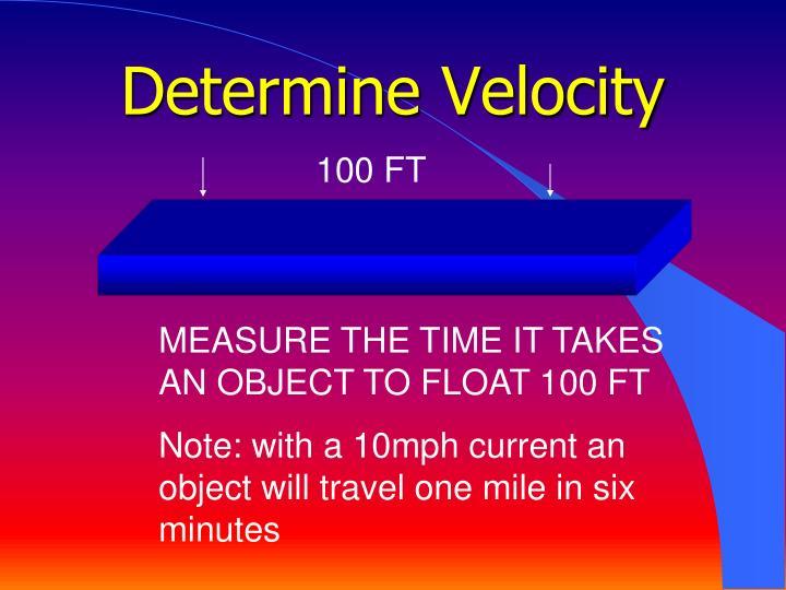 Determine Velocity