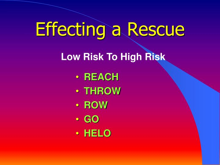 Effecting a Rescue