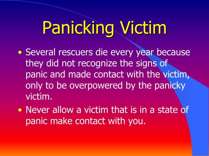 Panicking Victim