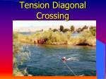tension diagonal crossing