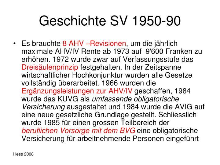 Geschichte SV 1950-90