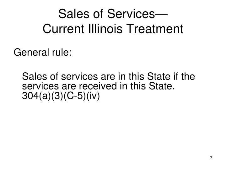 Sales of Services—