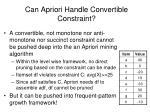 can apriori handle convertible constraint