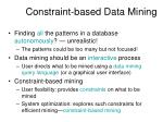 constraint based data mining