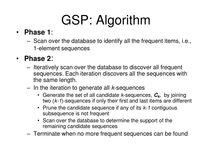 GSP: Algorithm