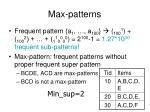 max patterns