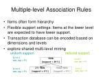 multiple level association rules
