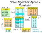na ve algorithm apriori constraint