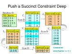 push a succinct constraint deep