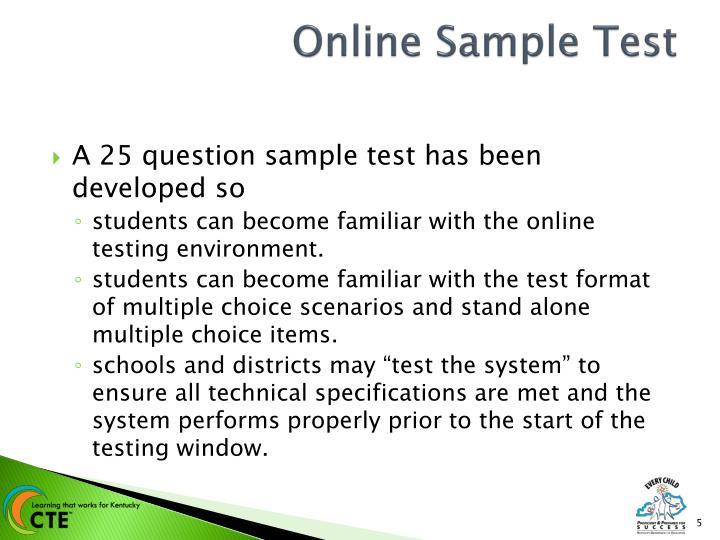 Online Sample Test
