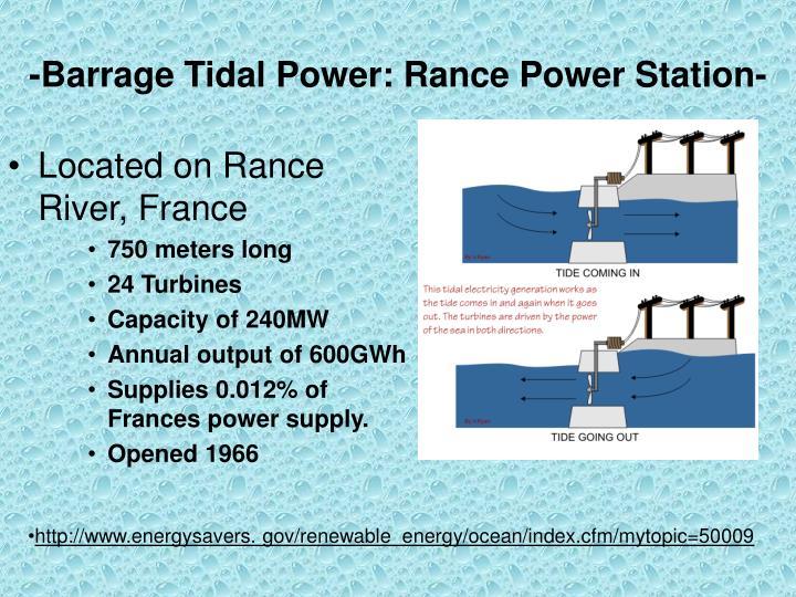 -Barrage Tidal Power: Rance Power Station-