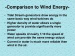 comparison to wind energy