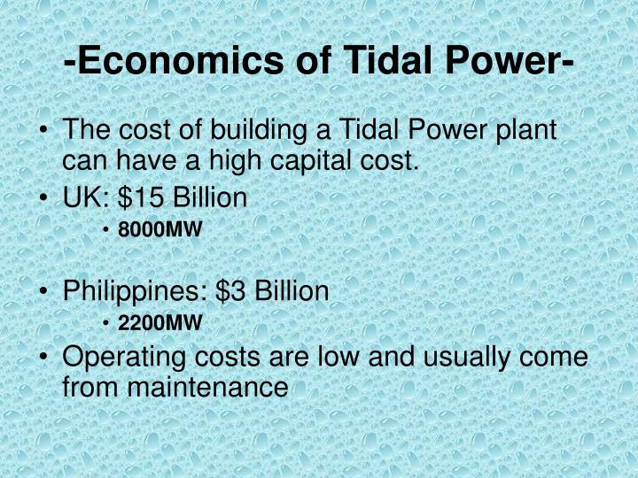 -Economics of Tidal Power-