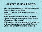 history of tidal energy