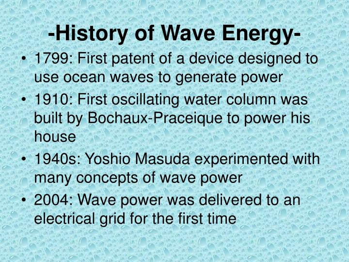 -History of Wave Energy-