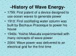 history of wave energy