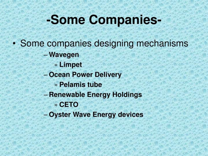 -Some Companies-