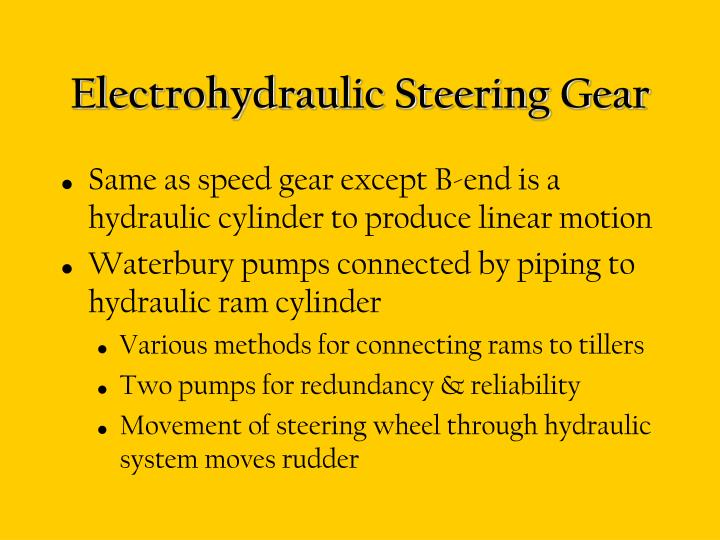 Electrohydraulic Steering Gear
