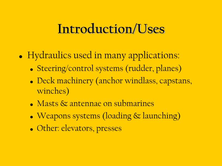 Introduction uses