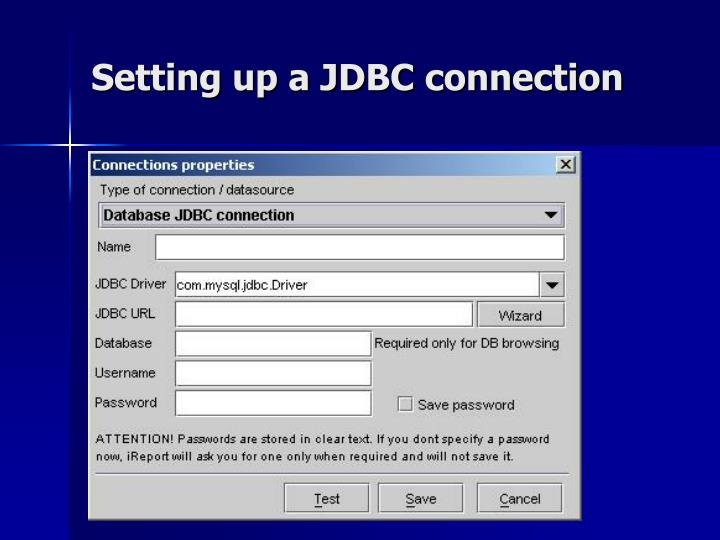 Setting up a JDBC connection