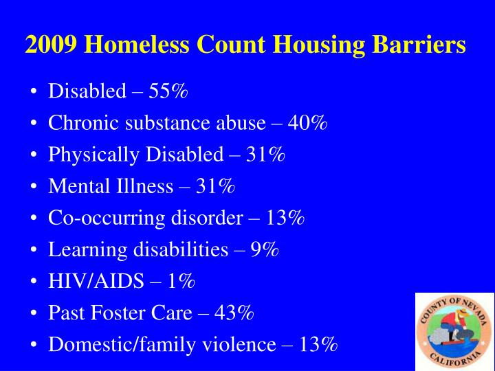 2009 Homeless Count Housing Barriers