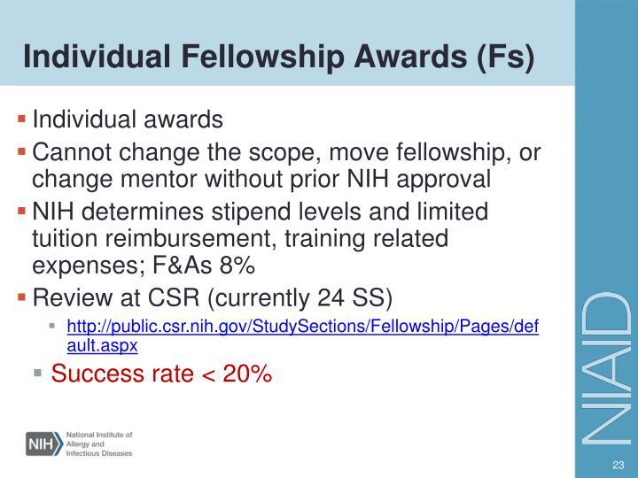 Individual Fellowship Awards (