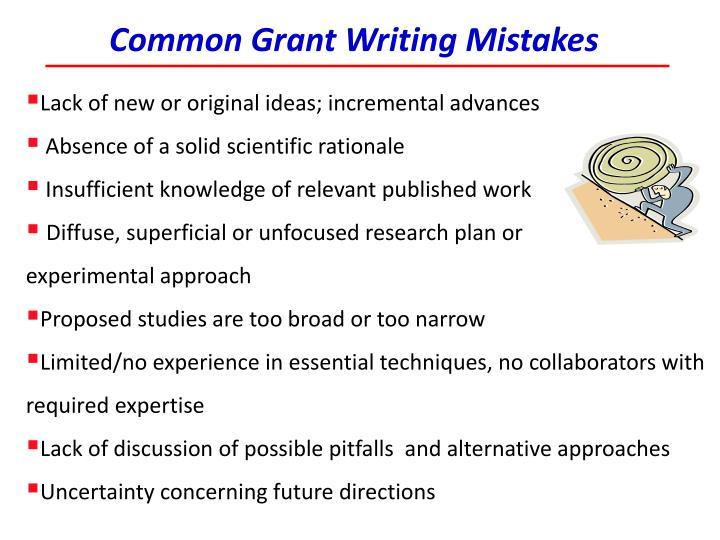 Common Grant Writing