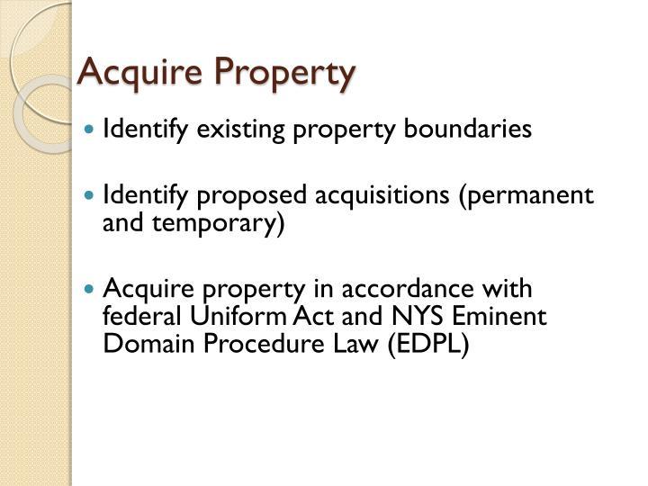 Acquire Property