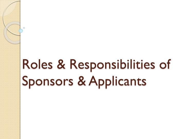 Roles & Responsibilities of