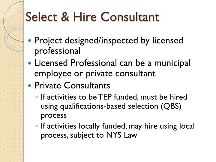 Select & Hire Consultant