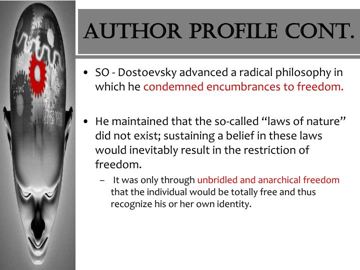 Author Profile cont.