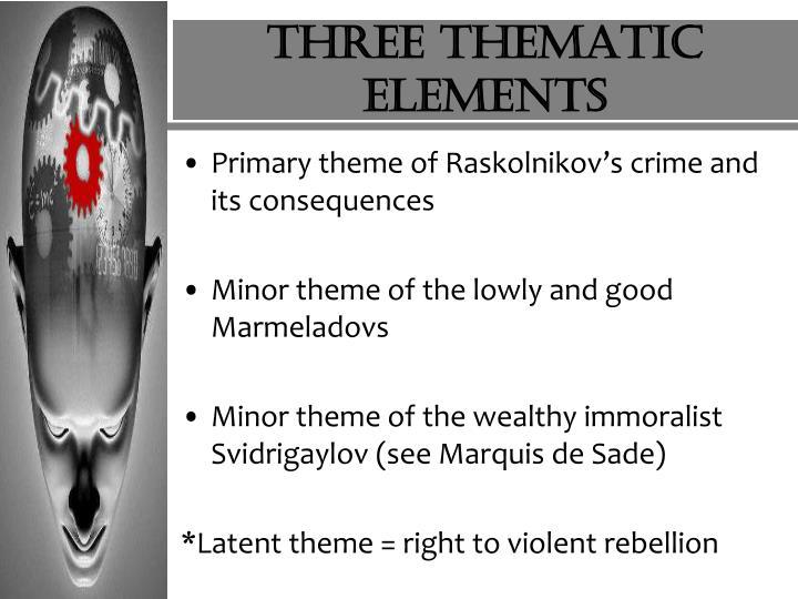 Three thematic elements