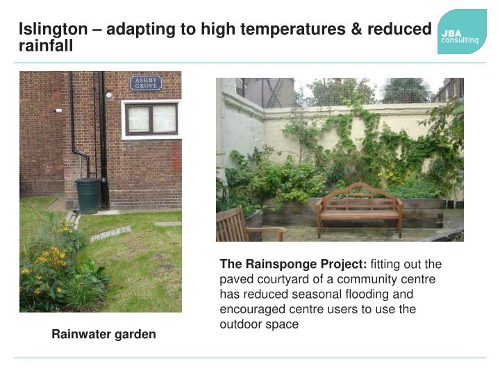 Islington – adapting to high temperatures & reduced rainfall