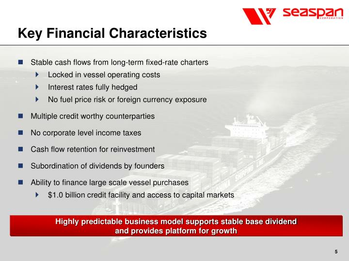 Key Financial Characteristics