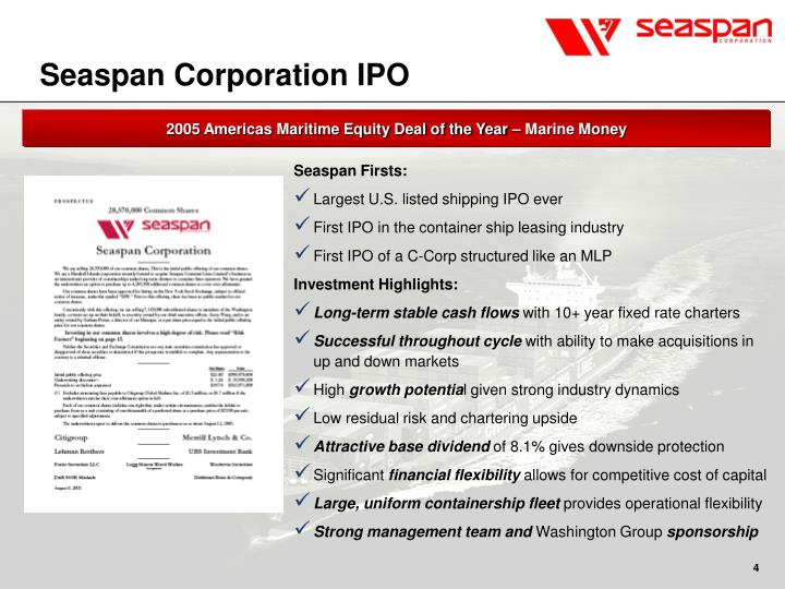 Seaspan Corporation IPO