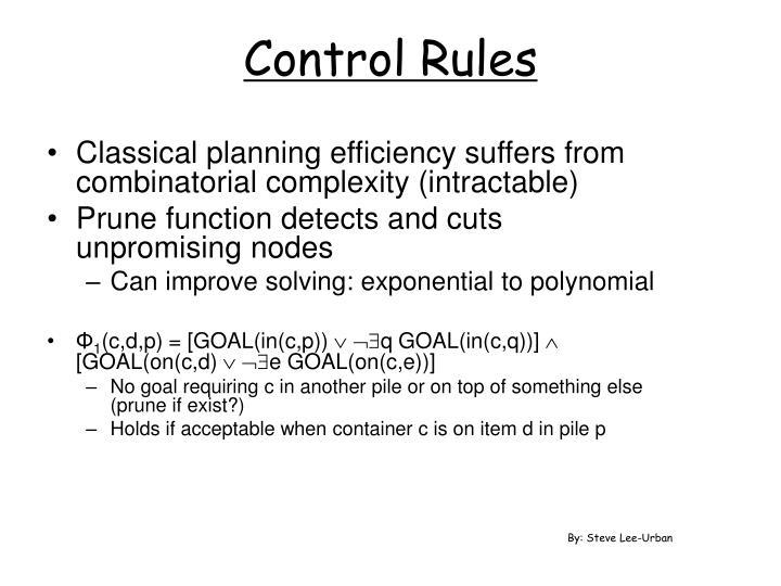 Control Rules