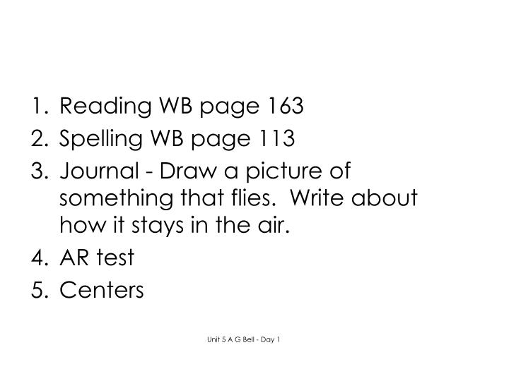 Reading WB page 163
