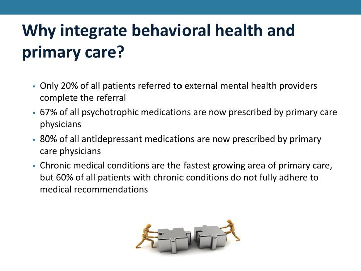 Why integrate behavioral health and primary care?