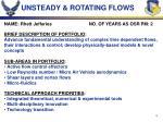 unsteady rotating flows