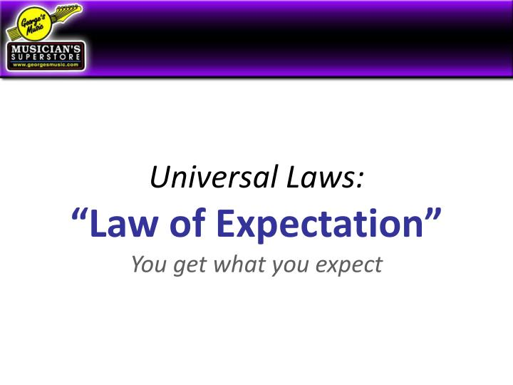 Universal Laws:
