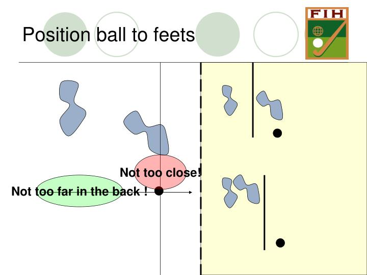 Position ball to feets