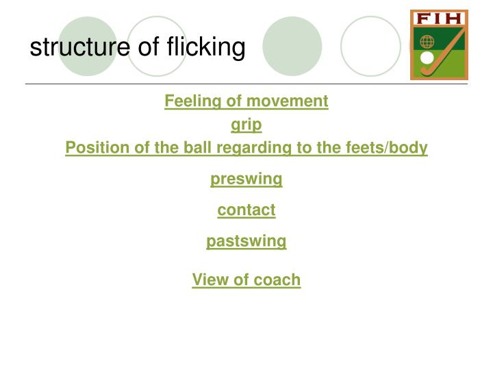 structure of flicking