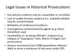 legal issues re historical prosecutions
