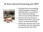 ni arms decommissioning act 1997