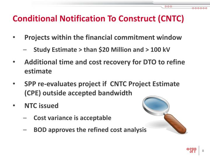 Conditional Notification To Construct (CNTC)