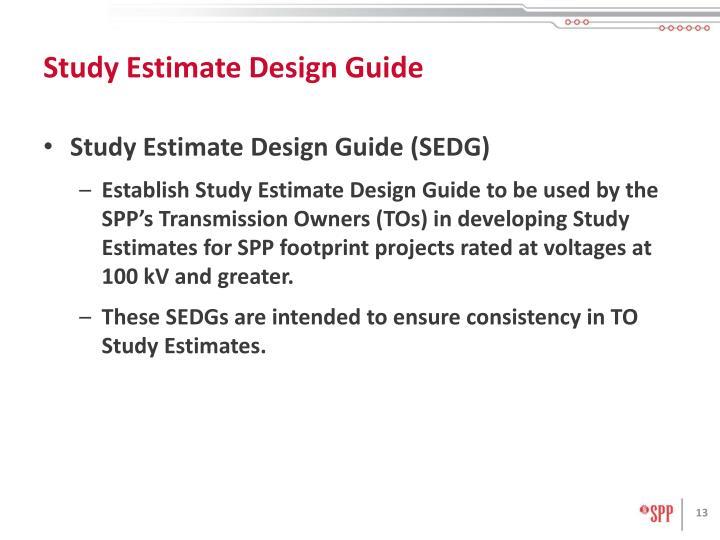 Study Estimate Design Guide